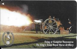 CARTE-MAGNETIQUE-GB-2£-JERSEY-KING TROOP ROYAL HORSE ARTILLERY-TBE - Royaume-Uni