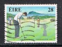Ireland SG814 1991 Golf Commemorations 28p Good/fine Used [15/14592/4D] - 1949-... Republic Of Ireland
