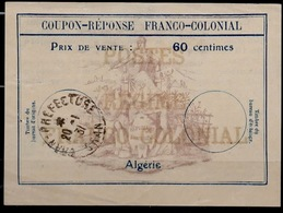 ALGERIE Fc360 Centimes Coupon-Reponse Franco-Colonial Antwortschein Replyo MEDEA 22.05.28 Bienen / Bees / Abeilles - Sonstige