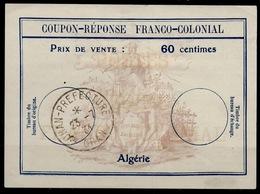 ALGERIE Fc360 Centimes Coupon-Reponse Franco-Colonial Antwortschein Replyo ORAN 23.7.34Bienen / Bees / Abeilles - Sonstige