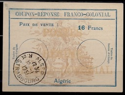 ALGERIE Fc6Coupon-Reponse Franco-Colonial Antwortschein Reply16 Francs o ALGER 10.1.51 ( Bienen / Bees / Abeilles ) - Covers & Documents