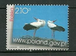 POLAND MNH ** 3829 Panorama De La Pologne Cigogne Oiseau Bird - 1944-.... Republik