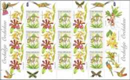 2012 Czech Republic - Greetinmg Stamps Flowers- Orchids - Sheetlet With Coupons MNH** MI 744 - Tschechische Republik