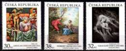 2017 Czech Rep. Artworks / Kust Werke - Photo By Kuscynskyj, Naive Art, N. Grund - 3 V -MNH** MI 950/952 - Tschechische Republik