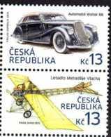 2015 Czech Rep. Hystorical Transports - Auto Walter B 6 / Plane By Mlach 2v Setetnant -MNH** MI 836/837 - Tschechische Republik