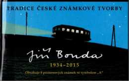 2018 Czech Rep. - History Of Czech Stamps Art -Juri Bouda Graphic, Locomotive Train Booklet MNH** MI MH 198 - Czech Republic