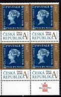 2017 Czech Rep. Blue Mauritius - Stamp On Stamp Praha 2018 -Block Of 4 - MNH** MI 940 - Tschechische Republik