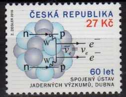 2016 Czech Rep. - 60 Years Of Join Nuclear Research Center In Dubna - Mi 878 - Physics, Nuclear Research - Ungebraucht