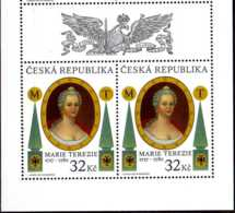 2017 Czech Rep. - 300 Years Of Imperatrise Maria Teresia Birthday - MNH** MI 921 -2v With Coupon - Tschechische Republik