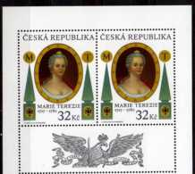 2017 Czech Rep. - 300 Years Of Imperatrise Maria Teresia Birthday - MNH** MI 921 -2v With Coupon Top - Ungebraucht