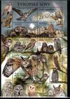 2015 Czech Rep. - European Owls / Naturschutz - Eulen - MNH** MI B 58 Owl Species Of Europe - Ungebraucht
