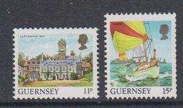 Guernsey 1987 Definitives Views Coil Stamps 2v ** Mnh (44108A) - Guernsey