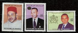 Maroc ** N° 1571 à 1573   Le Roi Mohammed VI - Morocco (1956-...)