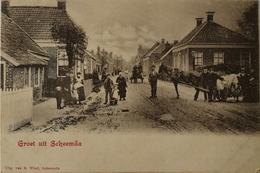 Scheemda (Grn.) Zeldzaam - Topkaart Ca 1900 Iets Roeat - Sonstige