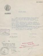 FISCAUX FRANCE ALGERIE PAPIER TIMBRE  DE  1958   180F - Fiscaux