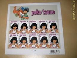 3922** Yoko Tsuno - Roger Leloup - Philatélie De La Jeunesse - Japon- Feuillet 10 Timbres RRRR - Panes