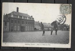 59 CAUDRY PLACEHOTEL DE VILLE PLI TRANSVERSAL - Caudry