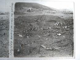 GRÈCE- Macédoine - Guerre 14-18 - Dépôt De Munitions Explosé-  Plaque De Verre Stéréoscopique 6x13 - 1918 - TBE - Diapositiva Su Vetro