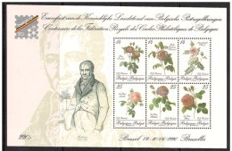 Blok 67** Jaar 1990, Postfris, Cote 30,00 Euro BF 67 MNH Bloc Roses Redoute 2370/75** - Blocs 1962-....