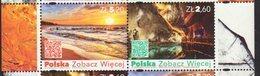 POLAND, 2018, MNH, POLAND SEE MORE, COASTS, CAVES,  2v - Geography