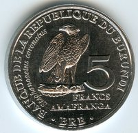 Burundi 5 Francs 2014 Oiseau Stephanoaetus Coronatus UNC KM 25 - Burundi