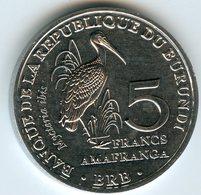 Burundi 5 Francs 2014 Oiseau Mycteria Ibis UNC KM 27 - Burundi