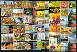 PAPUA NEW GUINEA, MNH, DANCES, COSTUMES, FLORA, FAUNA, CANOES, MOUNTAINS, VOLCANOES, LOT OF 39 PERSONALIZED STAMPS - Costumi
