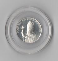 Médaille En Argent De La Visite Du Pape Jean-Paul II à Strasbourg En Octobre 1988 - Autres