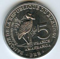 Burundi 5 Francs 2014 Oiseau Balaeniceps Rex UNC KM 30 - Burundi