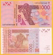 West African States 1000 Francs Togo (T) P-815T 2013 UNC Banknote - États D'Afrique De L'Ouest