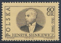 Poland Polska Polen 1966 Mi 1664 YT 1515 SG 1648 ** Henryk Sienkiewicz, Novelist / Schriftsteller, Nobelpreis 1905 - Nobelprijs