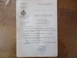 VILLE DU CATEAU RATIONNEMENT TEXTILES & VÊTEMENTS COURRIER DU 5 AVRIL 1941 DU MAIRE A MONSIEUR LE MAIRE DE LA GROISE - Historical Documents
