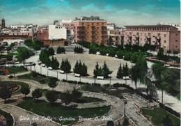 GIOIA DEL COLLE-BARI-GIARDINI PIAZZA C.PINTO-CARTOLINA VIAGGIATA IL 19-5-1962 - Bari