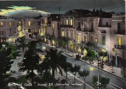 GIOIA DEL COLLE-BARI- PIAZZA XX SETTEMBRE (NOTTURNO )-CARTOLINA VIAGGIATA IL 2-6-1962 - Bari