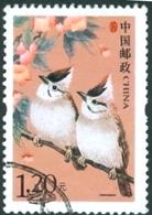 CHINA #3324  -  BIRDS  -  DEFINITIVES  2002  -  USED - 1949 - ... République Populaire