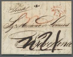 """Österreich - Vorphilatelie: 1816, Vorphila-Auslands-Brief Von Triest Mit Rotem Transitstempel """"MILAN - Austria"""
