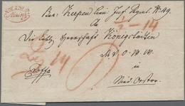 """Österreich - Vorphilatelie: 1823/1836, BUNDESFESTUNG MAINZ, """"K.K.ö.M.P. MAINZ"""", Ovalstempel In Rot A - Austria"""