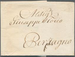 Österreich - Vorphilatelie: 1825, Entire Letter From Trieste, 25th October 1825, According To Text A - Autriche