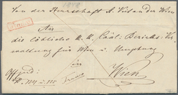 Österreich - Vorphilatelie: 1848, Wiener Stadtpost, Kompletter Orts-Frankobrief, Rückseitig Mit Rote - Autriche