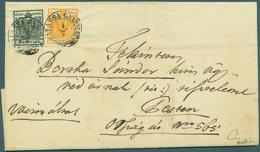 Österreich: 1850, 2 Kr Schwarz Und 1 Kr Dunkelorange, Jeweils Type Ib Auf Handpapier, Im Paar Gekleb - 1850-1918 Empire