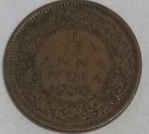 1939 British India 1/12 Anna Coin Circulated - India
