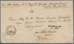 Österreich: 1850, 6 Kreuzer Rostbraun, Handpapier Type I C, Untere Hälfte Einer Waagerecht Halbierte - 1850-1918 Empire