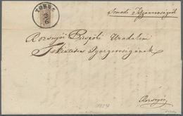 Österreich: 1850, 6 Kreuzer Braun, Handpapier Type III, Linke Hälfte Einer Senkrecht Halbierten Mark - 1850-1918 Empire