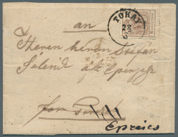 Österreich: 1850, TOKAYER DURCHSTICH: 6 Kreuzer Braun In Type III Mit Vierseitig Tadellos Erhaltenem - 1850-1918 Imperium