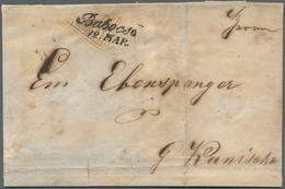 Österreich: 1850: 6 Kreuzer Braun, Maschinenpapier Type III, Von Links Oben Nach Rechts Unten Diagon - 1850-1918 Empire
