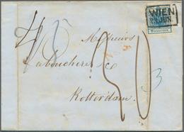 Österreich: 1850/1851, TEILFRANKO, Zwei Faltbriefe Aus Einer Korrespondenz Von Wien Nach Rotterdam, - 1850-1918 Empire