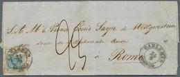 """Österreich: 1852, 9 Kreuzer Blau Entwertet Mit K2 CARLSBAD Auf Kpl. Faltbrief An """"Prince Louis Sayn - 1850-1918 Empire"""