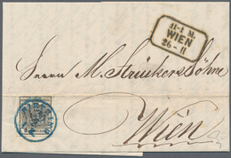 Österreich: 1850/1854, 2 Kreuzer Tiefschwarz, Maschinenpapier Type IIIa, Farbfrisch, Allseits Gut Ge - 1850-1918 Empire