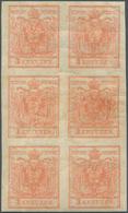 Österreich: 1850/54: 3 Kreuzer Stumpfrosa, Maschinenpapier Type III C, Im Senkrechten Ungebrauchten - 1850-1918 Imperium