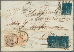 Österreich: 1850: Brief Aus Triest Vom 26. Januar 1858, Frankiert 3 Kreuzer Orange Und 6 Kreuzer Bra - 1850-1918 Imperium